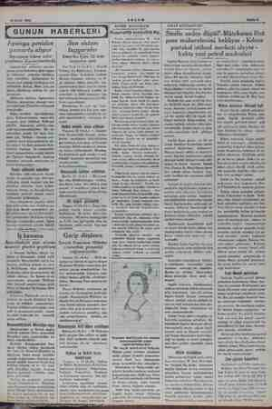 14 Eylül 1934 AKŞAM Ispanya yeniden yumurta alıyor Ispanyaya ickrar sefer yapılması düşünülmektedir İspanyaden alâkadar...