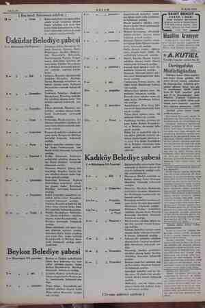 Sahife 10 16 Eylül 1934 ( Baş tarafı dokuzuncu sahifede ) Cuma: in mahalleler için tayin edilen günde reyini vermemiş olonlar