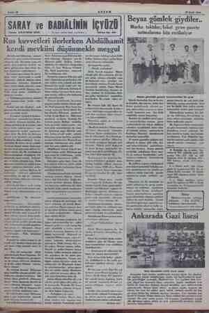 © verilmişti. Bu karar da bu yoldaki o müşahede tasvir etmek, hakikati AKŞAM ZI Eylül 1934 Rus kuvvetleri ilerlerken...