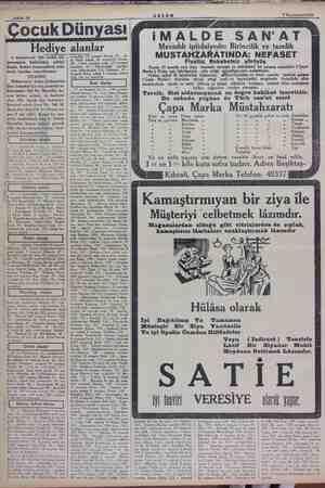 7 Teşririisani 1934 Hediye alanlar 4 teşrinievvel 934 tarihli bik Paecemizin halledilmiş şeklini bugün hediye kazananların