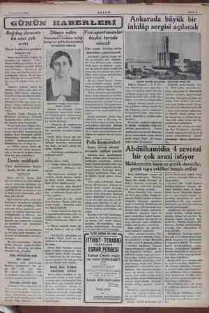 7 Teşrinisani 1934 Sahife 5 Buğday ihracatı bu sene çok arttı Ziraat bankasına yeniden > talepler var Hariç memleketlere