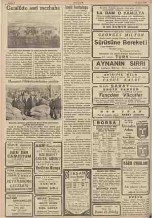 » w Sahife 4 AKŞAM 17 Şubat 1935 | Gemlikte asri mezbaha e hem göze çarpan hizmetlerde Sn Bundan altı ay evvel buraya gü-