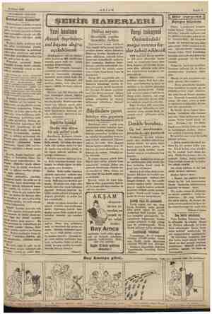 """25 Nisan 1935. AKŞAMDAN AKŞAMA Rl ei Buldukları kusurlar Milletlerarası kadınlar ki i ongrö"""" #ine iştirak et gelen mek üzere"""