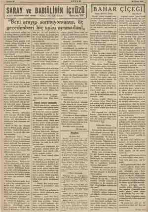 AM: 30 Nisan 1938 o | SARAY ve BABIÂLİNİN İÇYÜZÜ Yazan: SULEYMAN KÂNI IRTEM — Tercüme, iktibas hakkı mahfuzdur — Tefrika