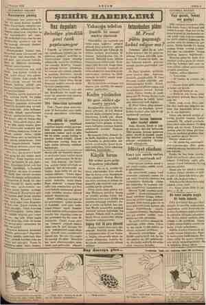 1 Haziran 1935 AKŞAMDAN AKŞAMA — e Konserve yemiş emar bazı zı yerleri var ki bol bir ş hazinesi sayılabi- lirler, E sike