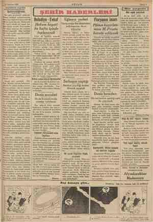 "I ""21 Haziran 1935 AKŞAM Sahife 3 ———— 'AKŞAMDAN AKŞAMA a a Sm e mk mam Şehirciliğimiz i Her gün, gazetemizi açtığımız #aman,"