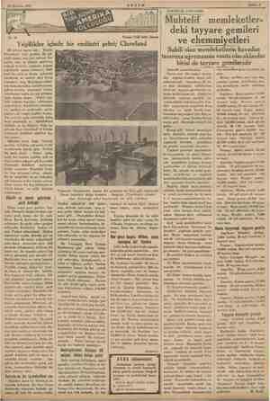 23 Haziran 1935 No. 41 Yazan: Faik Sabri Düran Yeşillikler am bir endüstri — Claveland 29 birinci teşrin salı. — ee...