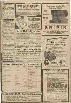 f talığına müraca- N. Tel: 44991-2- a (13452) 26 Ağustos 1935 Deniz yolları in : LETM mtelerii Karaköy «* Köprübaşı Yel....