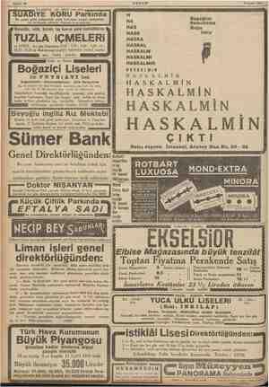 Sahife 16 AKŞAM 7 Eylül 1935 stanbul'un en güzel yeri olan | SUADIYE KORU Parkında H Bu pazar aüni mükemmel cazla fevkalâde