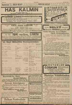 Sahife 12 AKŞAM 24 Eylül 1935 ilâçlarınızı >, SALİH NECATİ ken cit bi ikame bazar f OOFATIN NECATİ elenen varlar tonbul ve