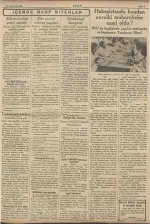 14 Teşrinievvel 1935 AMOR e a ea AKŞAM MA Sahife 8 | iÇERDE OLUP BİTENLER Edirne turizm şehri olacak Bunun için Edirnede