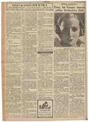 """AKŞAM """"18 Kânunusani 1936 SARAY ve BABIÂLİNİN İÇ YÜZÜ Yazan: SULEYMAN KÂNI Baba Tahir, Ahmed Rasim beyin ağzından jurnal..."""