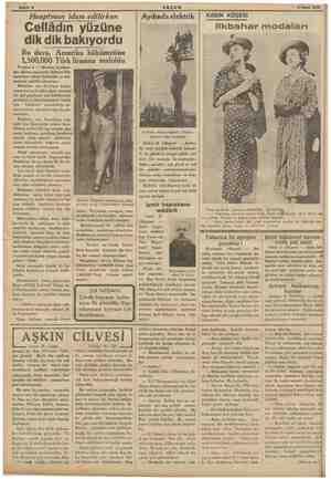 """Sahife 6 """" AKŞAM © 5 Nissih 1936 Hauptman idam edilirken Cellâdın yüzüne dik dik bakıyordu Bu dava, Amerika hükümetine..."""