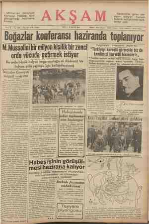 Milletler cemiyeti konseyi Habeş işini görüşmeği bıraktı —— hazirana SALI — 12 MAYIS 1936 Sene 18 — No, 6309 — Fiatı her