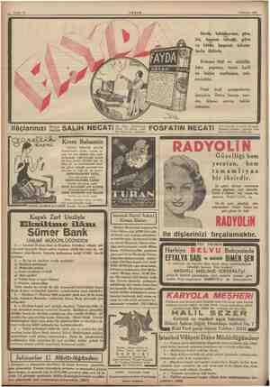 Sahife 12 2 Haziran 1936 AKŞAM Sinek, tahtakurusu, pire, bit, hamam böceği, güve ve bütün haşaratı tohum- larile öldürür....