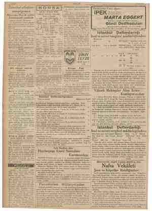 Sahife 4 AKŞAM 9 Eylül 193: : —— Nö : m öbetçi eczaneler Da y Istanbul atletizm ORSA Pu akşam bet ezel yn Önümüzdeki Cuma