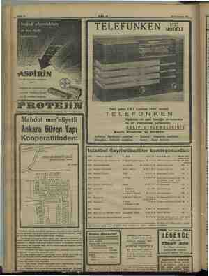 ei Sahife 4 AKŞAM 15 Teşrinievvel 1936 KY Mİİ Gini LE Ta ei riiy17i Mİ İMERİ 2 ve 20 komprimelik ambalajlarda bulunur;...