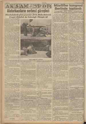 30 Teşrinievvel 1936 , Alaturkacıların serbest güreşleri Müsabakalarda göze çarpanlar Şerif, Molla Mehmed, alaturkacıların