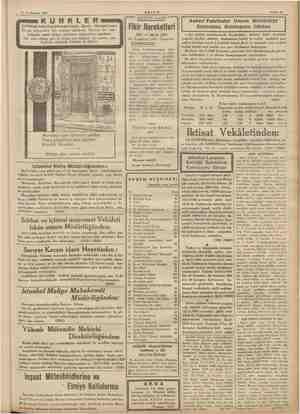 14 Teşrinisani 1936 KLER (EPREM) kürk ticarethanesi halefi Zareh MR n güç beğenenleri bile memnun edebilecek Viyanalı bir