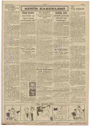 11 Teşrinisani 1938 AKŞAM Sahife 8 AKŞAMDAN AKŞAMA ul 7 DOSYA Al T men abilerin İİ ŞEHİR HABERLERİ | Kapı arkasında Alman