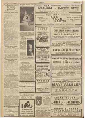 Sahife 4 AKŞAM 14 Teşrinisani 1936 ; üuük| Ereğlide Atatürk anıtı (4 Diler i ETER vi 5 . rem çim eyi pe Bugün İPEK...
