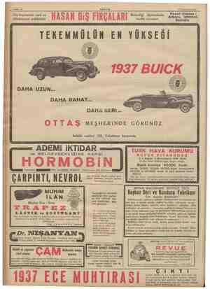 Sahife 12 Diş fırçalarının serti ve dökülmiyeni makbuldür HASAN DIŞ FİRCALARI 16 Teşrinisani 1936 Ki tipi SE Hasan de...