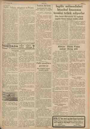 ran Italyan an İngiliz - 4 ni e üzerinde İngiltere ile İtalya da ükdolunup imzası hususi te- İsonra kararlaştırılmış olduğu