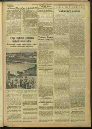 23 Nisan 1927 La AKŞAM Sahite'8. — SİYASİ İCMAL Lehistan - Romanya münasebatı Lehistan Hariciye nazırı Baron Bek dün...