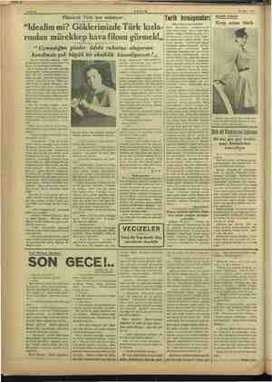 Plânörcü Türk kızı anlatıyor.. —Burası İstanbul radyosu... Şim- di size bayan Naciye tayyarecilik hak» kında bir konferans