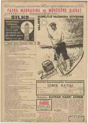 Sahife 16 4 Mayıs 1937. emma AKŞAM, > Adi gazı boya ile karıştirarak yalancı vii markalı kutulara dolduruyorlar ve en ve...
