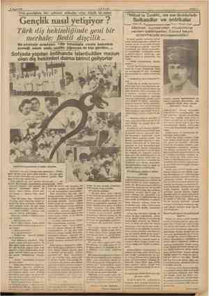 8 Mayıs 1937 e am era m a mr — — AKŞAM Türk gençliğinin her şubesini alâkadar eden büyük bir anket > ———...