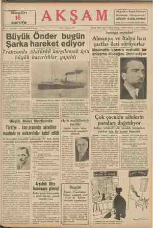 """i """" müddetlerin teşkilâtına git kanınan 1l inci mad- N 19 — No. 6695 — Fiati her yerde 5 kuruş a Trabzonda Atatürkü..."""