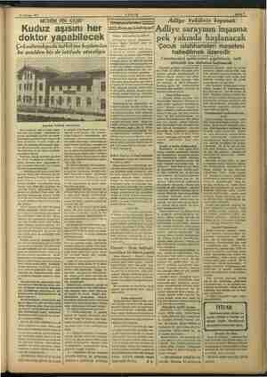 rar 1937 m Çapadaki Daülkelp tedavihanesi Şehir işlerine, tıbbi ve sıhhi bahis- lere dair çok faydalı mütalâalarını arasıra