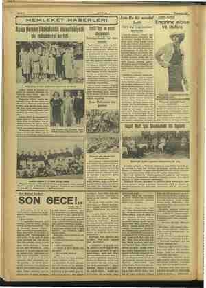 Aşağı Hereke ilkokul MEMLEKET 25 Haziran 1937 —e unda muvaffakiyetl bir müsamere verildi Aşağı Hereke ilk okul talebesinden