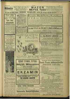 * Midenize 28 Ağustos 1937 AKŞAM Sahife 15 mm Dikkat ve İYİ HAZIM edinir. Çabuk, iyi çiğnemeden yemek yiyenler, fazla...