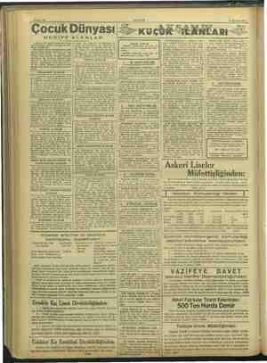 Sahife 14 31 Ağustos 1937. AKŞAM Çocuk Dünyası HEDİYE ALANLAR 7 Ağustos 937 tarihli bilmecemizi doğru balledenlerden,...