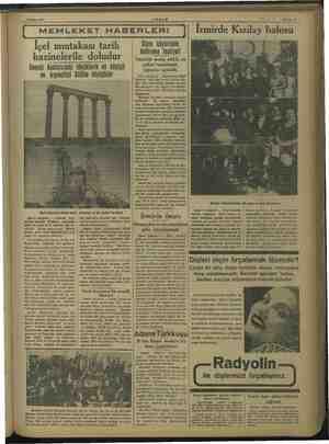 e 8 Şubat 1938 MEMLEKET HABERLERİ İçel mıntakası tarih hazinelerile doludur Cenubi Anadoludaki höyüklerin en büyügü ve...