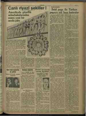 """Elek yar ihten ı gas"""" api n aii"""" dı: n ŞİM 4 Mart 1938 Canlı riyazi şekiller ! Amerikada güzellik müsabakalarından sonra"""