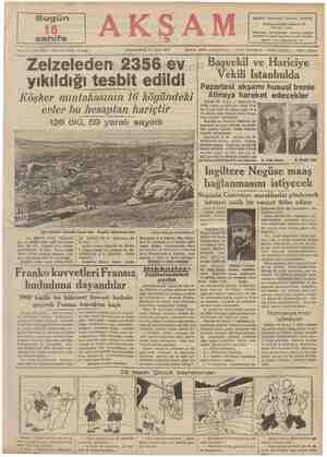 — mmm 20 — No. 7009 — Fiati her yerde 5 kuruş Sene 126 ölü, Son zelzelede tamamlile harab olan o Kirşehir köylerinden biri