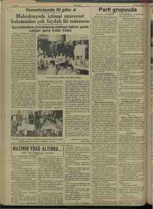 Yunanistanda 10 gün: AKŞAM 18 Mayıs 1938. 4 Makedonyada içtimai muavenet bakımından çok faydalı iki müessese Işçi...