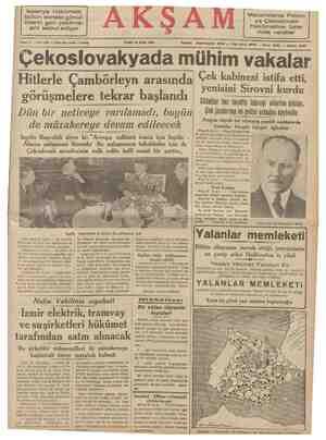 Ispanya hükümeti, bütün ecnebi gönül- lülerin geri çekilme- sini kabul ediyor — — —— CUMA 23 Eylül 1938 AKŞAM Macaristanla