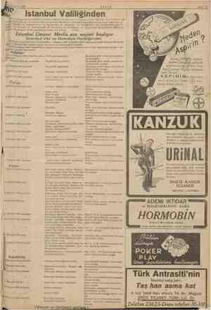 Mm Teşr nievvel 1938 İkinci intihap devresi müddetini an İstanbul Umumi mecl de İ5liyacak olan üçüncü intihap devresi