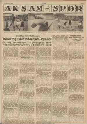 (Sağda) Beşiktaş kalecisi Mehmed Ali kornerden gelen bir topu Galatasaray forverdleri arasında tutuyor. (Ortada) kale önüne