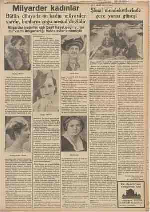 papa $ Kânunusani 1939 Milyarder kadınlar Bütün dünyada on kadın milyarder vardır, bunların çoğu mesud değildir Milyarder...
