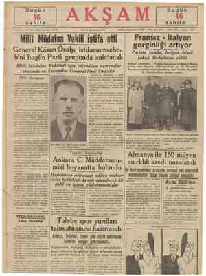 Sene-21 — , 7276 — Fiati her yerde 5 kuruş AKŞAM SALI 17 Kânunusani 1939 Milli 1939 Avrupası Bu asrın tarihini yazmaya...