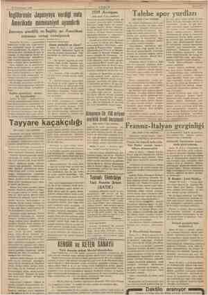 17 Kânunusani 1939 İngilterenin Japonyaya verdiği nota Amerikada memnuniyet uyandırdı Japonya şimdilik ne İngiliz, ne...