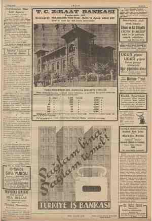 ay a İ 2 Mayıs 1939 AKŞAM Bahife 15 €candinavian Near | East Agency Galata Tahir han 3 üncü kat Tel: 44991 - 2 -3 Svenska