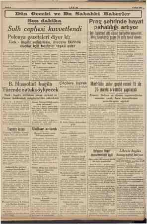 Son dakika © Sulh cephesi kuvvetlendi Polonya gazeteleri diyor ki: Ingiliz anlaşması, macera fikrinde olanlar için hezimet