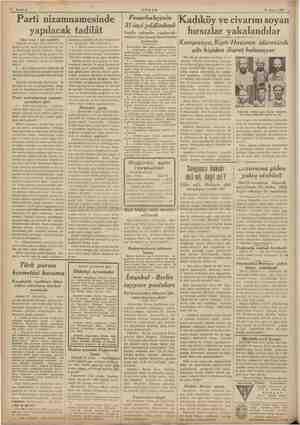 """""""ip OS Sahiteş AKŞAM 28 Mayıs 1939 Parti wzamnamesinde yapılacak tadilât """"(Baş tarafı 1 inei sahifede) (Büyük kurultay dört"""