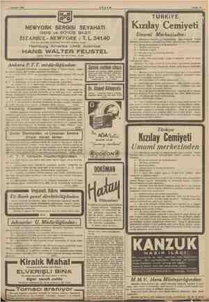 1 Ağustos 1939 Galata Rıhtım caddesi No. 45 Telefon: 41178 Ankara P.T.T. müdürlüğünden: 1 — Ankarada Çankayada yaptırılacak